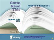 Gotta Read This 2016: Politics and Elections