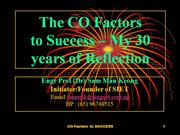 The CO Factors to SUCCESS