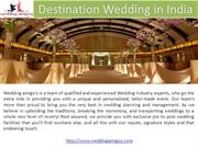 Destination Wedding in India Luxury Wedding Destination