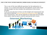internet marketing company in india