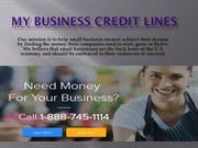 My Business Credit Line PPT