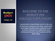 Budget Inn Vallejo Napa Valley California Hotel