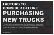 Factors to consider before purchasing new trucks.