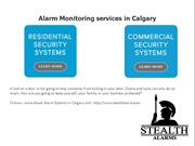 Alarm Monitoring services in Calgary