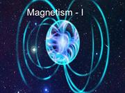 Magnetic Effects of Electric Current - I