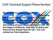 1-888-809-3892 COX Technical Support Phone Number