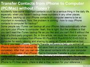 Transfer Contacts from iPhone to Computer without iTunes
