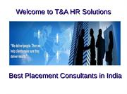 Best placement consultants in India