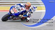 10 Things To Do Before Riding A Motorcycle