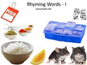Rhyming Words - I