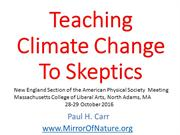 Teaching Climate Change to Skeptics
