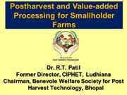ASABE Presentation on Post Harvest & Value Addition in GFSC