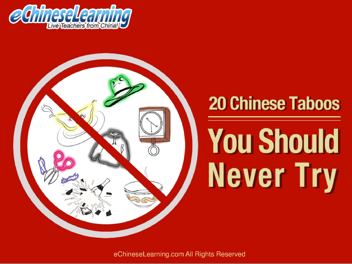 taboos in china Since, taboos and superstitions play a major role in chinese culture, they are  also closely observed in local and daily routines of a person.