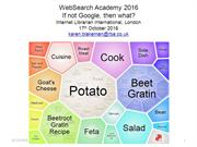 WebSearch Academy: If not Google then what?(edited highlights)
