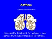 Homeopathy treatment for asthma is very safe and without any medicinal