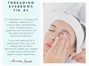 threading eyebrows tip #4