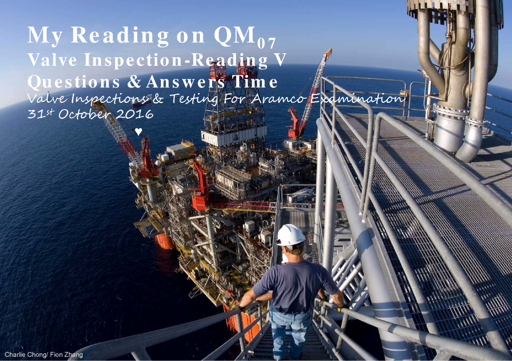 Aramco's QM7-Valve Inspection Questions & Answers |authorSTREAM