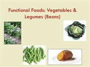 Functional Foods: Vegetables and Legumes