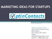 Marketing Ideas For Startups !!!