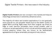 Digital Textile Printers - the new wave in the Industry