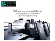 Top Used offset Printing Machines in India.