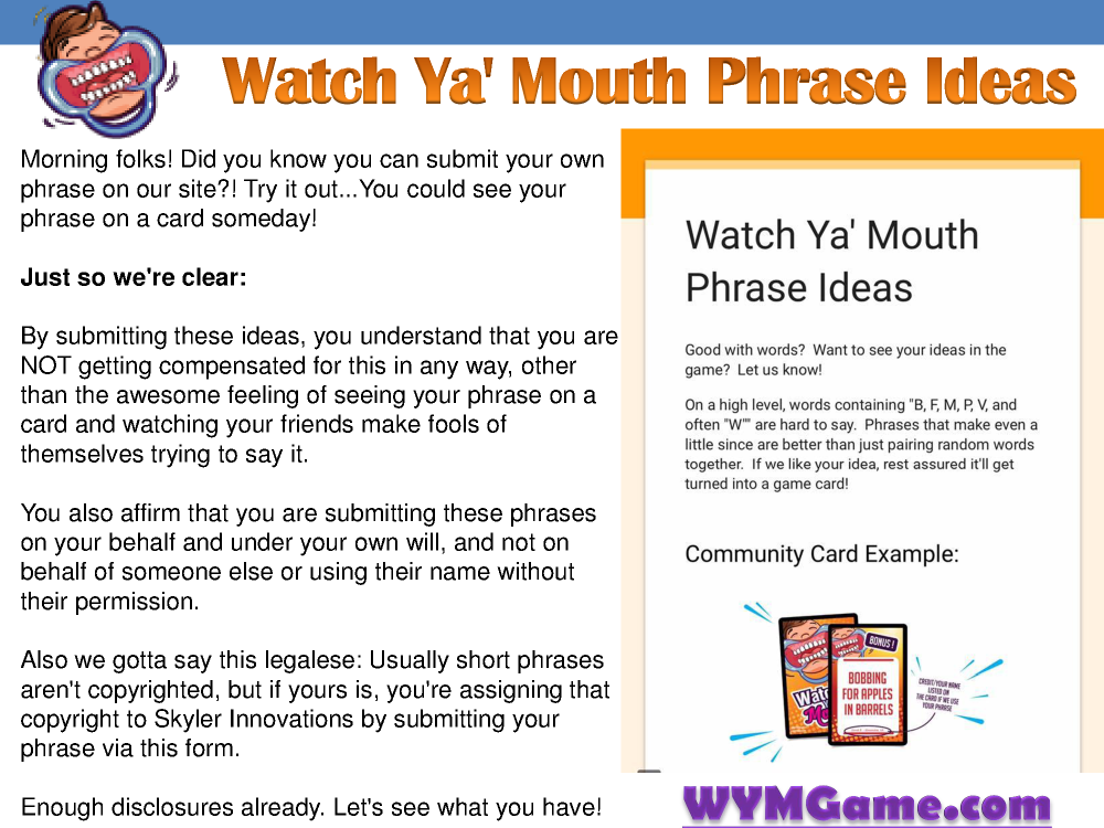 watch ya mouth phrase ideas authorstream
