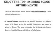 Enjoy The Top 10 Indian Songs Of This Month
