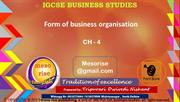 igcse bs ch - 4 business organisation