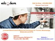 Electrical Company and Contractor in Toronto