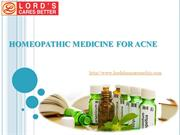 Homeopathic Medicine For Acne
