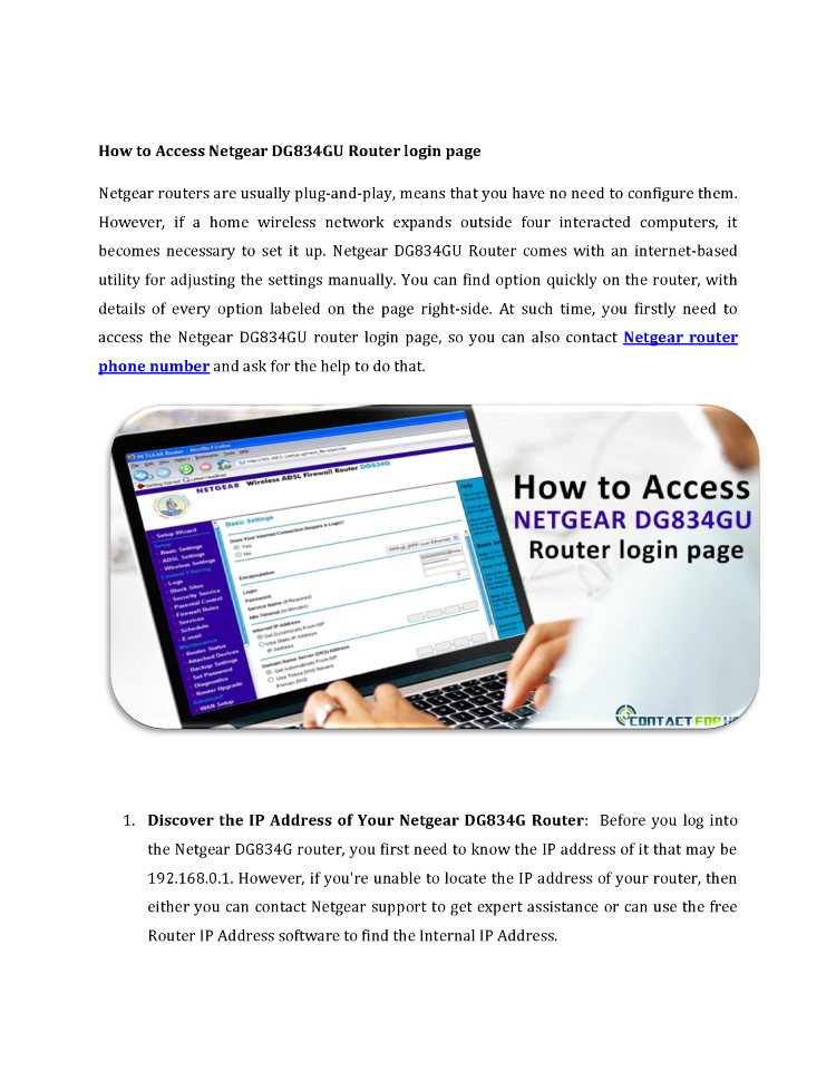 How to Access Netgear DG834GU Router Login Page |authorSTREAM