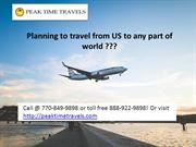 Planning to travel from US to any part of world