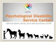 Service Animal Travel by Using Animal Letter