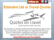 Extensive List of Travel Quotes - QuotesonTravel.com