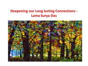 Deepening our Long lasting Connections - Lama Surya Das