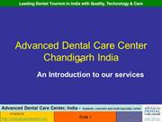 Dental Tourism India chandigarh