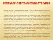 Renting Self Drive Accessibility Devices