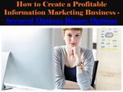 How to Create a Profitable Information Marketing Business - Secured