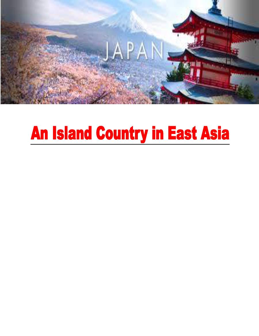 japan an island country essay Japan is the best country in the world there are several factors combined together that help a country be successful and great these factors should be harmonized together to bring up a.