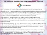 OneTouchPoint Continues Growth with PrintManagement Acquisition