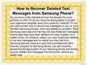 How to Recover Deleted Text Messages from Samsung Cell Phone