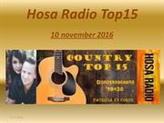 Hosa Radio Country Top 15 10 november 2016
