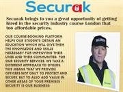 Best Cctv Training Course In London -Securak