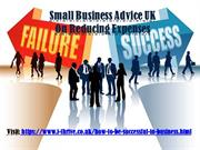 Small Business Advice UK On Reducing Expenses