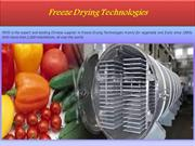 Freeze Drying Technologies
