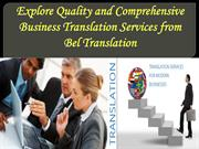Explore Quality and Comprehensive Business Translation Services from B