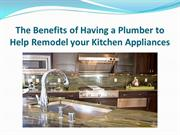 The Benefits of Having a Plumber to Help Remodel your Kitchen