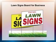 Lawn Signs Board for Business