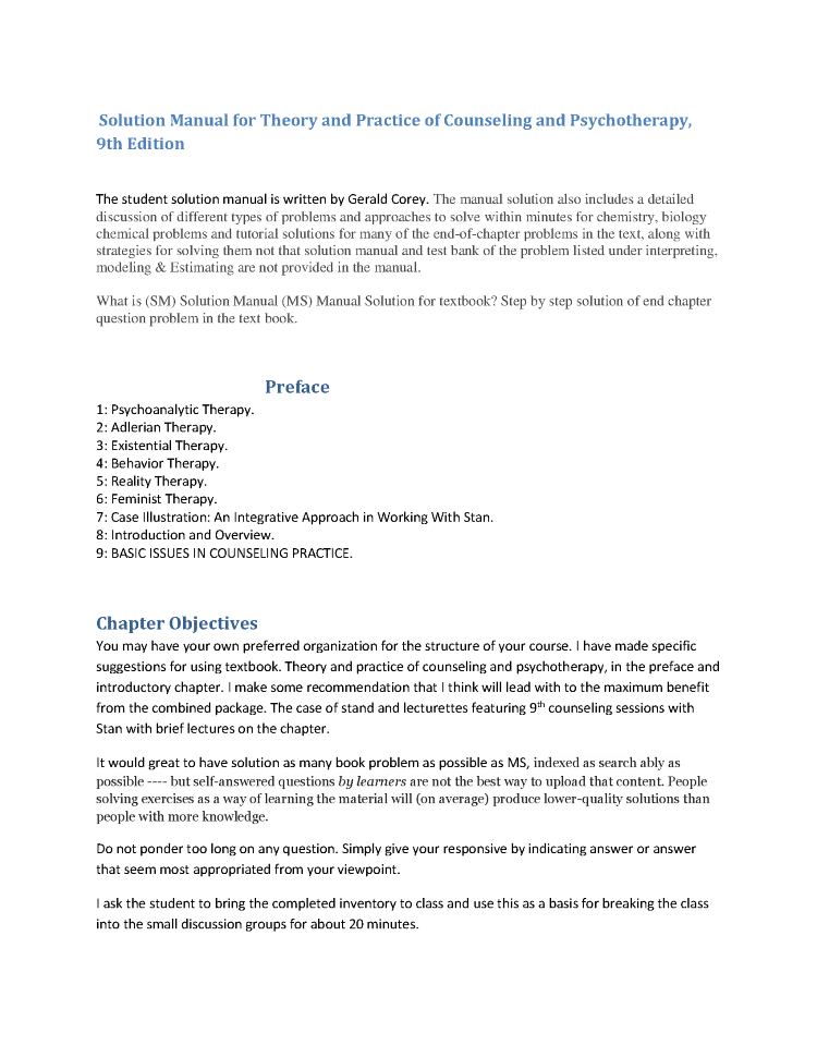 Solution manual for theory and practice of counseling and psychoth solution manual for theory and practice of counseling and psychoth authorstream publicscrutiny Images
