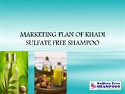 MARKETING PLAN OF KHADI SULFATE FREE SHAMPOO